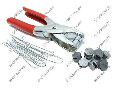 Lead Seal Crimp Tool Electric Electricity Meter 25x Seals Security Wires