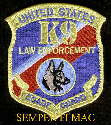 K-9 Law Enforcement Handler Patch Us Coast Guard Veteran Pin Up Msst Bomb Gift