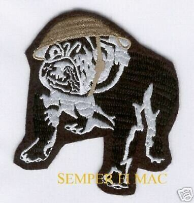 VINTAGE US MARINES BULLDOG HAT PATCH DEVIL DOG USMC CHESTY HELMET Teufel Hunden