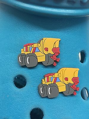 2 Mighty Bulldozer Shoe Charms For Crocs & Jibbitz Wristbands. Free UK P&P