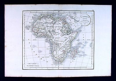 1832 Antique Map by Delamarche - Africa Guinea Capetown South Mountains of Kong