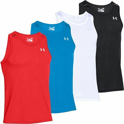 Under Armour 2016 Streaker Run Singlet Vest Mens Training Sports Tank Top Shirt