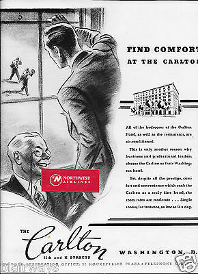 The Carlton Hotel Find Comfort At The Carlton In Washington D.c. 1936 Ad