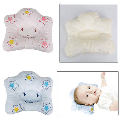 Infant Baby Head Rest Support Comfortable Pillow Prevent Flat Head Cushion Pink