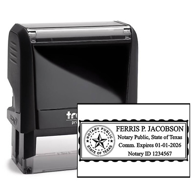 Notary Public | Texas | Self-Inking Stamp Trodat 4914
