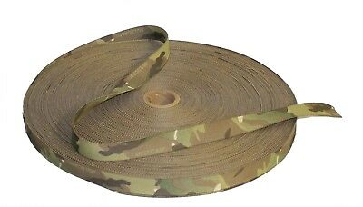 """Double Sided Crye Multicam MTP Camouflage Military Spec 19mm / 0.75"""" Webbing"""