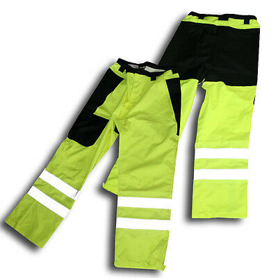 Rain Pants, Meets ANSI/ISEA,Waterproof, Reflective Strips, Hi-Vis