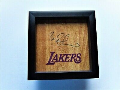 BRIAN SHAW Los Angeles Lakers Signed + Framed Floor