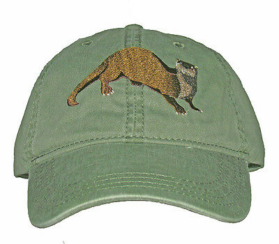 River Otter Embroidered Cotton Cap NEW Hat Wildlife Mammal