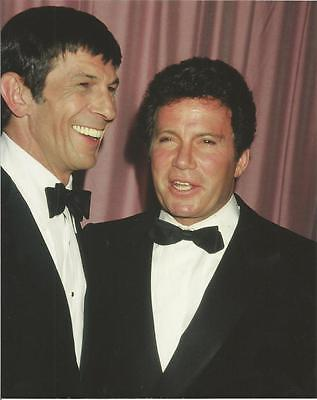 Star Trek Original Series Leonard Nimoy William Shatner Laugh 8 x 10 Photo