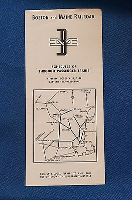 Boston and Maine Railroad - Through Time Table