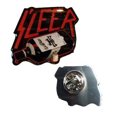 Metall Pin Anstecker Sleer black heavy metal death trash hell 666 party alkohol