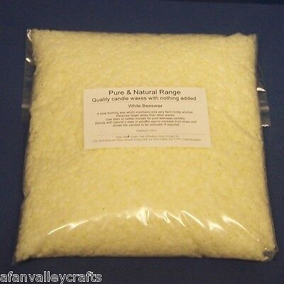 White Beeswax 100% Pure Bees Wax For Candles Polish & Crafts - Choice Of Size