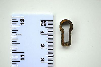 Original Antique Brass Furniture Escutcheon Keyhole Key Hole Z6