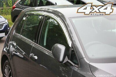For Volkswagen Golf MK7 Hatchback Chrome Wind Deflectors Set (4 pieces)
