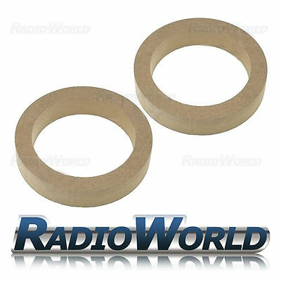 "5.25"" 130mm MDF Speaker Spacer Mounting Rings 30mm Thick ID 116mm ED 155mm Pair"