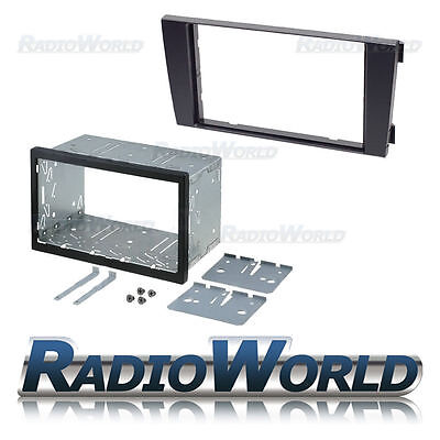 Audi A6 02-04 Symphony Double Din Fascia Panel Adapter Plate Cage Fitting Kit