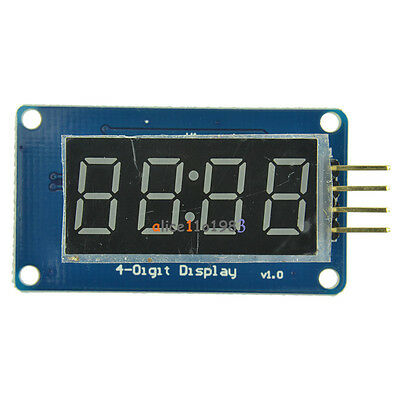 2PCS 4Bits Digital Tube LED Display TM1637 Module With Clock Display for Arduino