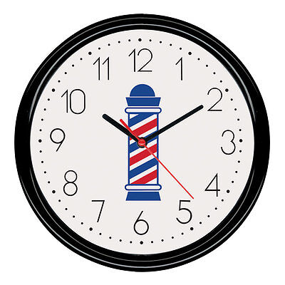 "ScalpMaster Professional 9 1/2"" Hanging Wall Clock Barber Pole Design"