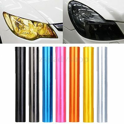 "12 x 48"" DIY Car Tint Headlight Taillight Fog Light Vinyl Smoke Film Sheet Cover"