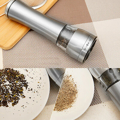 Electric Spice Sauce Salt Pepper Mill Grinder Home Kitchen Tools Stainless Steel