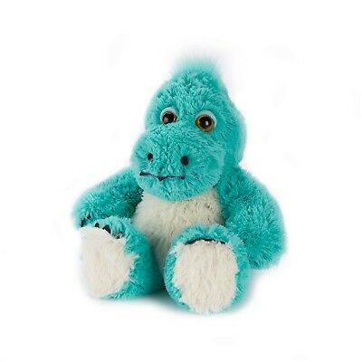 Warmies Plush Turquoise Dinosaur Fully Microwaveable Soft Cuddly Heatable Toy