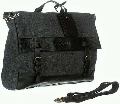 Borsa Tracolla Uomo Napapijri Bag Woman Men Elg Satchel Dark Grey Mel N5D01 ad9aba41f20
