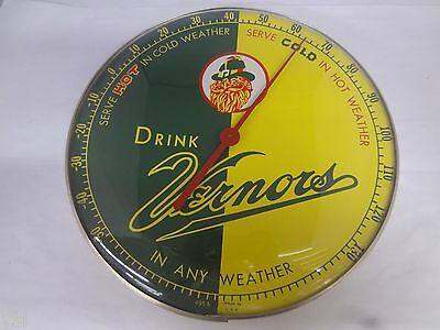 Vintage Vernor's Soda Round Advertising Thermometer Excellent  686-W