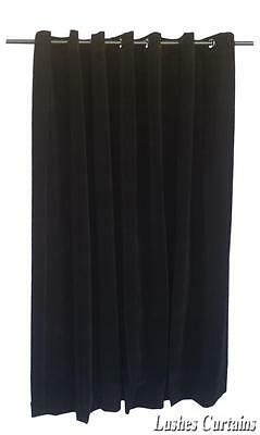 Black 11 ft H Velvet Curtain Panel w/Grommet Top Eyelets Window Treatment Drapes