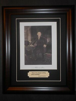 Alexander Hamilton Lawyer Portrait & Quote Matted And Framed