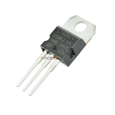 20Pcs LM7805 L7805 7805 TO-220 Voltage Regulator IC top