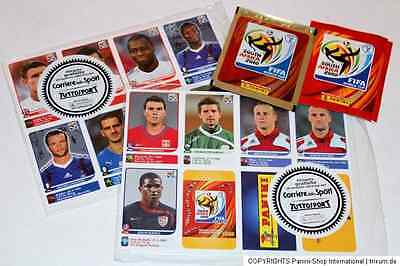 Panini WM WC SOUTH AFRICA 2010 SET 80 UPDATE EXTRA STICKERS SEALED MINT!