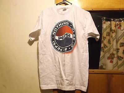 ksm. Pre-Owned White Large T-Shirt Pepsi   Nothing Else is A Pepsi  Nicse Condit
