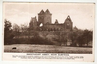 scotland scottish postcard sweetheart abbey dumfries