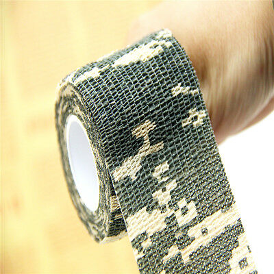 Camping 4.5M Camo Latex Camouflage Waterproof Blind Stealth Tape Roll for Rifle