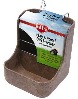 Superpet Kaytee Hay & Food Bin Feeder With Quick Locks For Rabbits Chinchillas