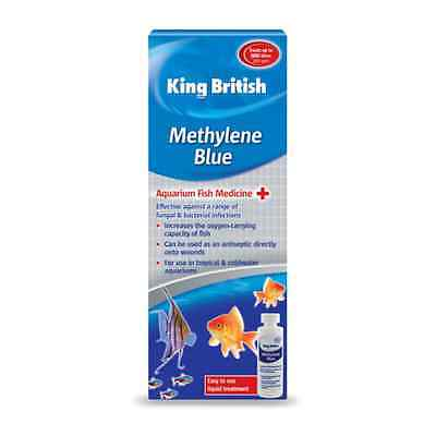 KING BRITISH AQUARIUM METHYLENE BLUE (100ml) fish tank water treatment 10961