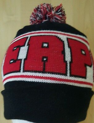 Liverpool Bobble  Hat - Black White and Red with  Bobble