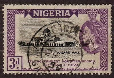1959 Nigeria, 3p Used, Self Government by the Northern Region  Sc 95