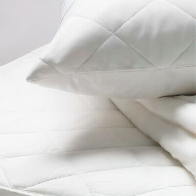 Linens Limited Polycotton Quilted Pillow Protectors, Pair