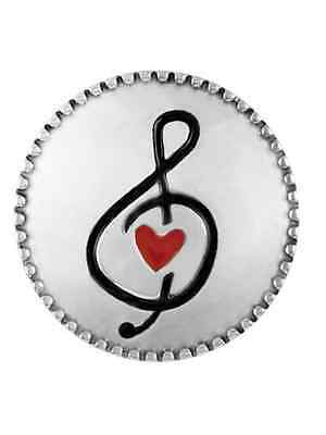 BUY 4, GET 5TH $6.95 SNAP FREE GINGER SNAPS™ Jewelry MUSIC HEART SN04-481