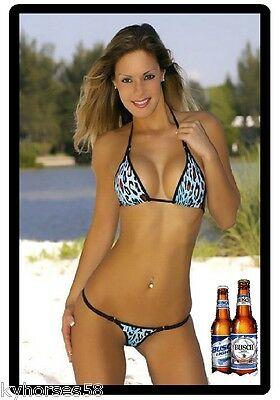 Busch Light Beer Sexy Model In Bikini Refrigerator Magnet
