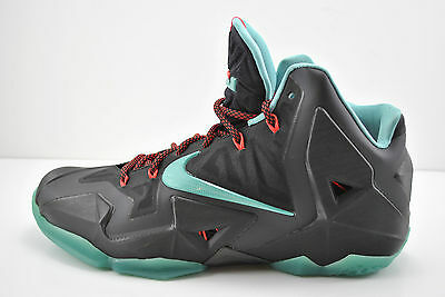 Mens Nike Lebron James XI 11 Basketball Shoes Size 10.5 Black Jade 616175 004