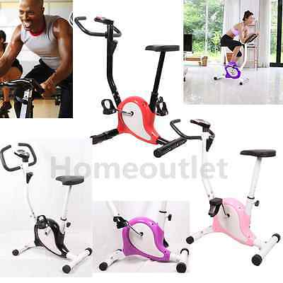 Gym Body Fitness Cardio Workout Trainer Exercise Bike Adjustable Resistance HT