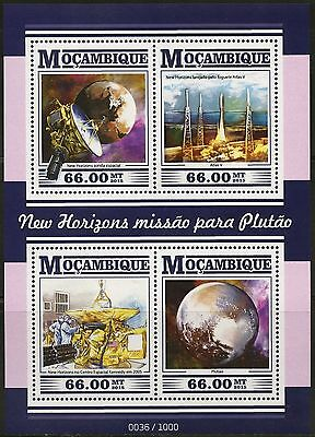 Mozambique 2015 New Horizons Pluto Mission   Sheet Mint Nh