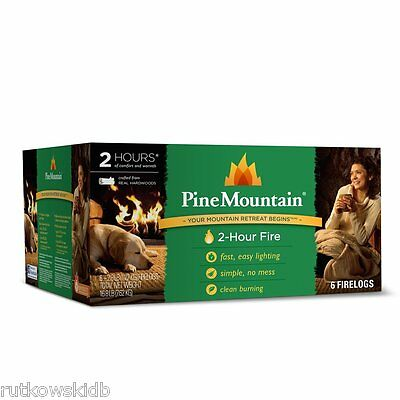 6-PACK Pine Mountain Classic 2-Hour Fire Log