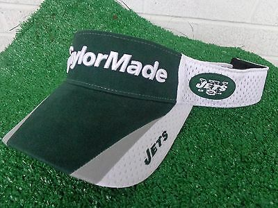 2f0914bb TAYLORMADE GOLF NEW York Jets Golf Visor Green and White NFL Adjustable NEW