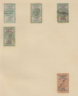 E1275 Uk England Revenue Stamps Lot. Sold As Is. Mauritius