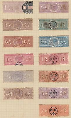 E1280 Uk England Revenue Stamps Lot. Sold As Is. India