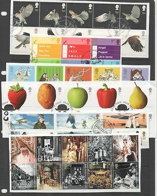 GB 2003 complete year-set of commemoratives 12 fine used sets of stamps on Piece